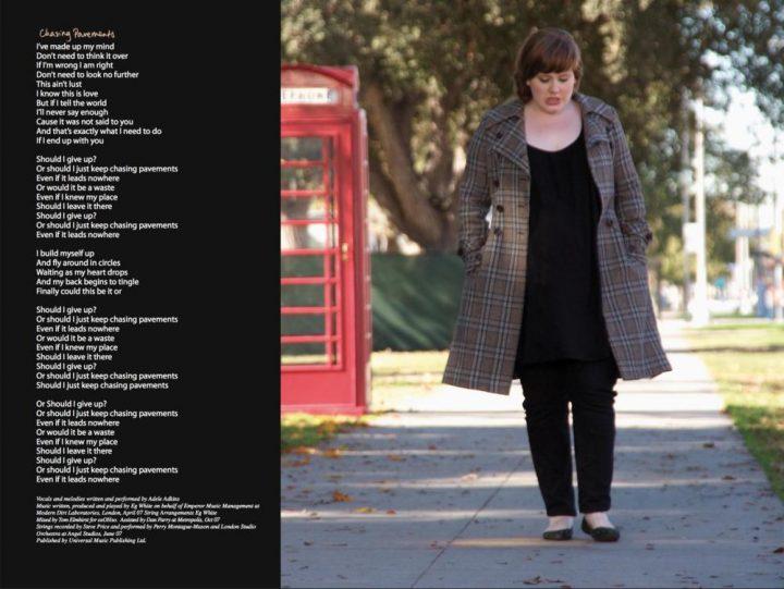 تصویری از آدل و متن ترانه پرسههای بیهوده